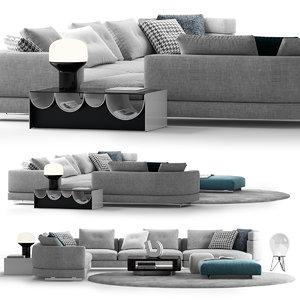 3D minotti alexander sofa comp model