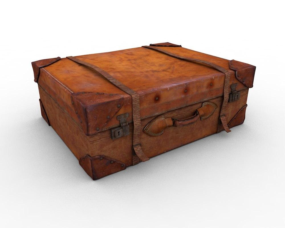 leather suitcase 3D model