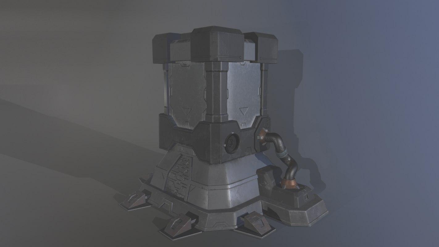3D sci fi crate