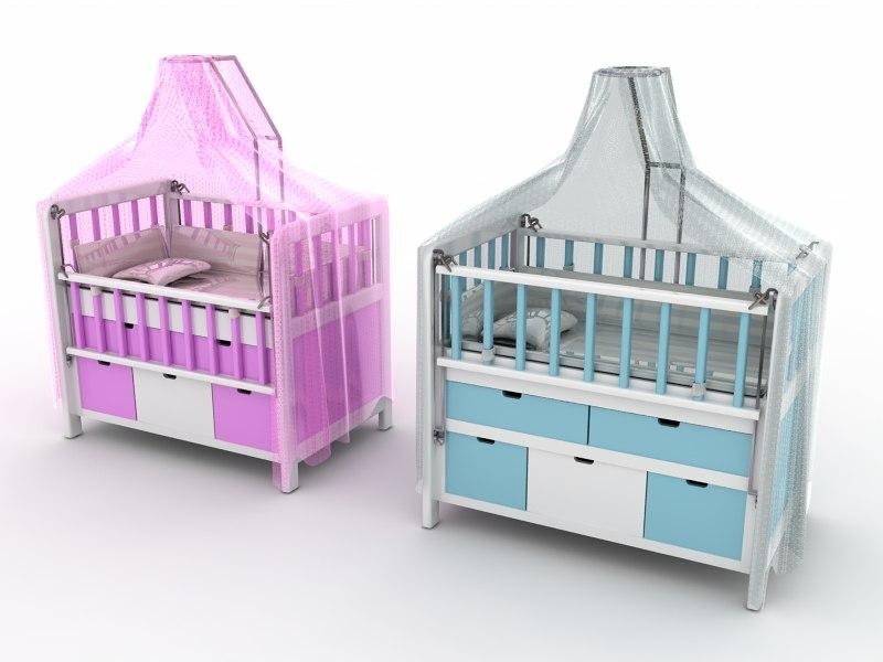 3D bed child children