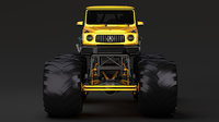 monster truck mercedes amg 3D model