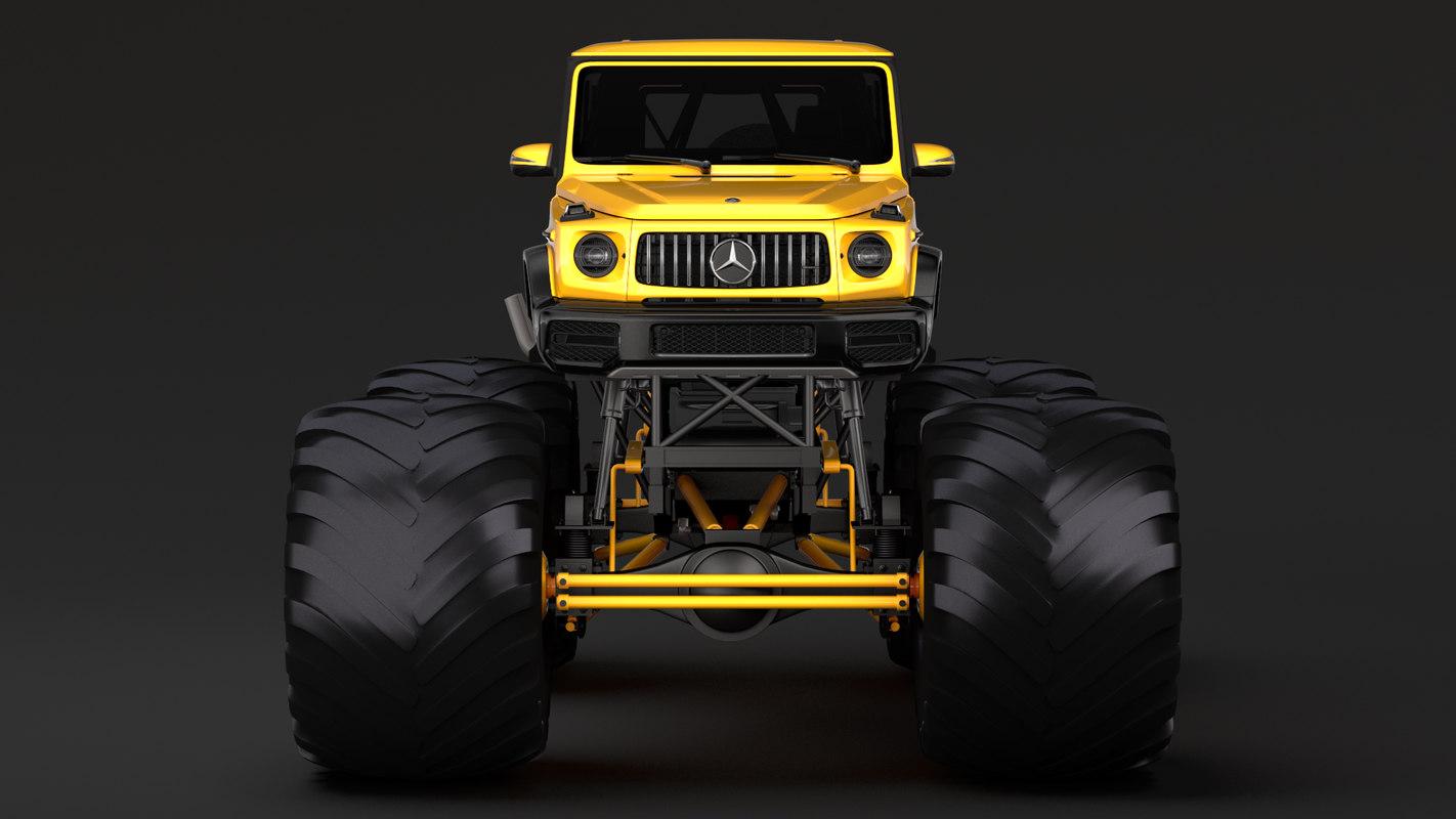 monster truck mercedes amg 3D model