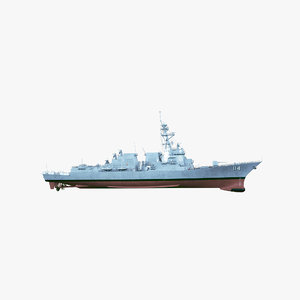 uss ralph johnson 3D model