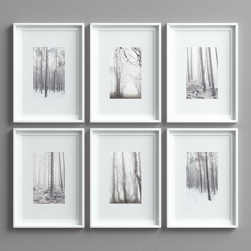 3D picture frames set -12 model