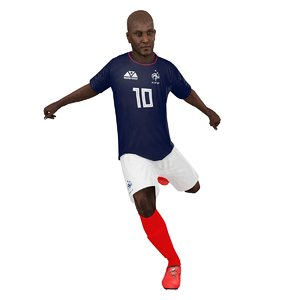 rigged soccer player 2018 3D model