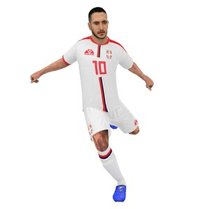 3D soccer player 2018 model