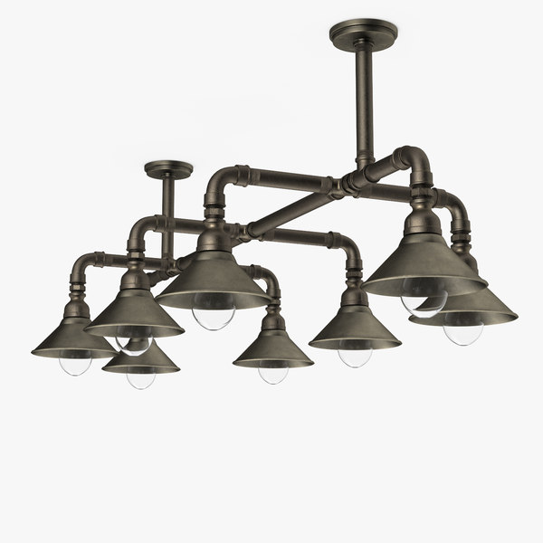 multi bulb ceiling light 3D model