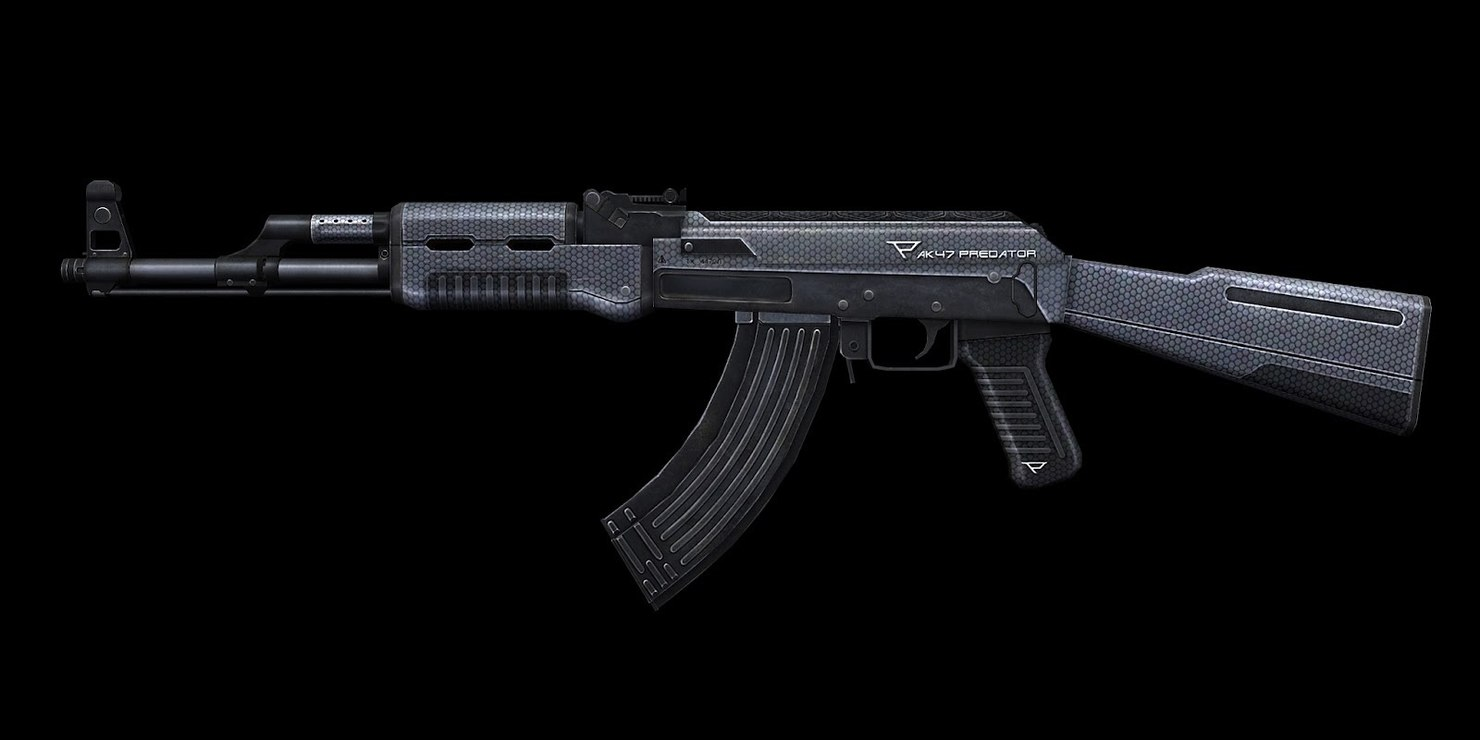 ak-47 sci-fi gun 3D model
