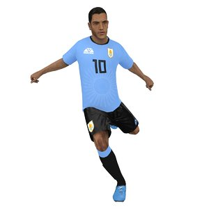 3D model rigged soccer player 2018