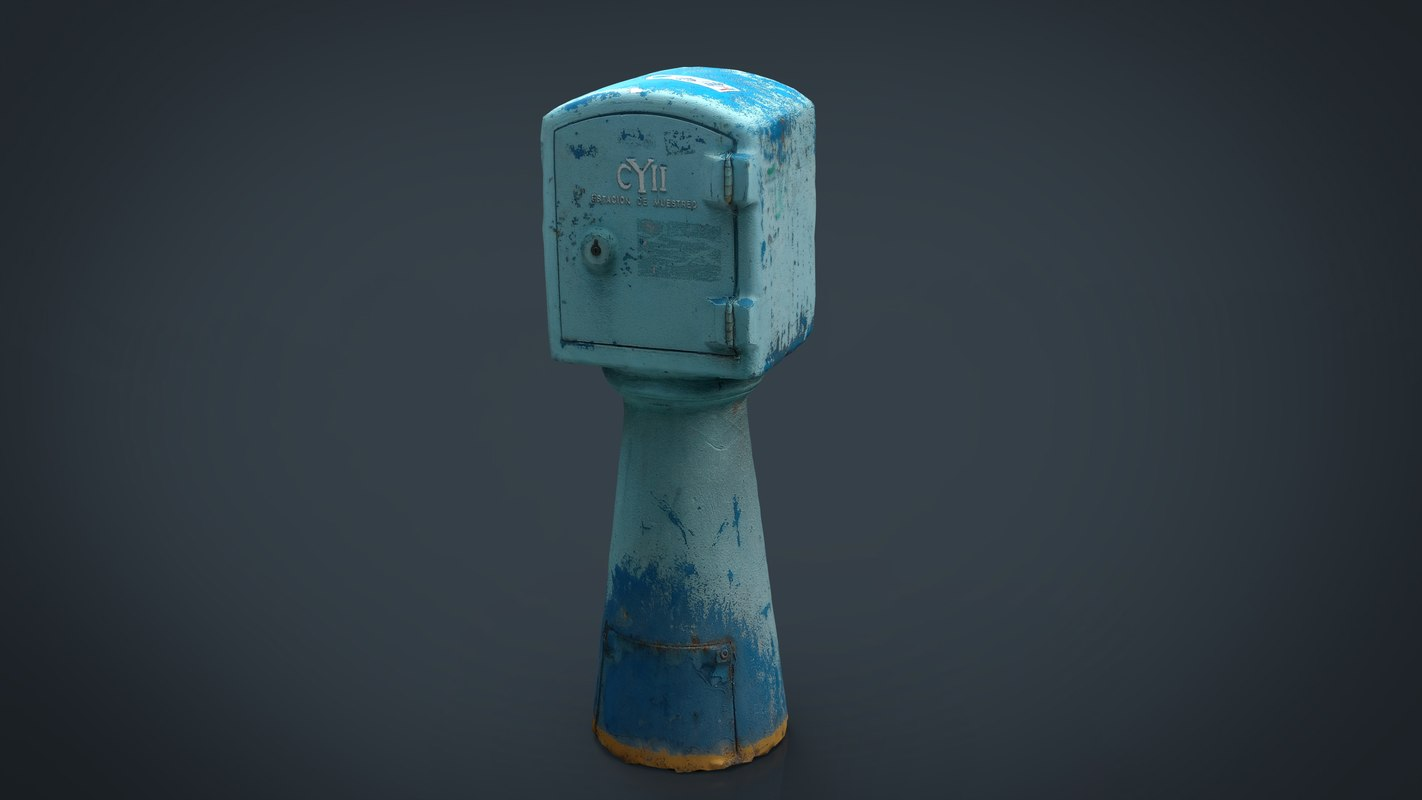 water sampling station 3D model