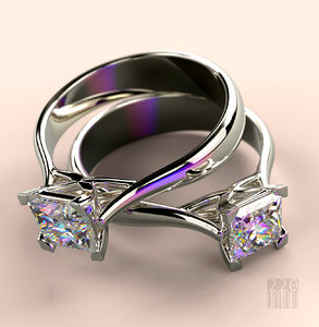 women diamond ring gold silver model