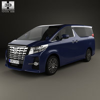 3D toyota alphard 2015 model