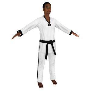 female taekwondo woman model