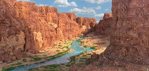 grand canyon colorado river 3D model