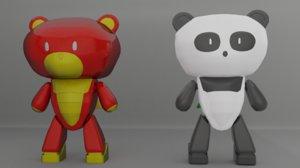 bear guy set 3D model