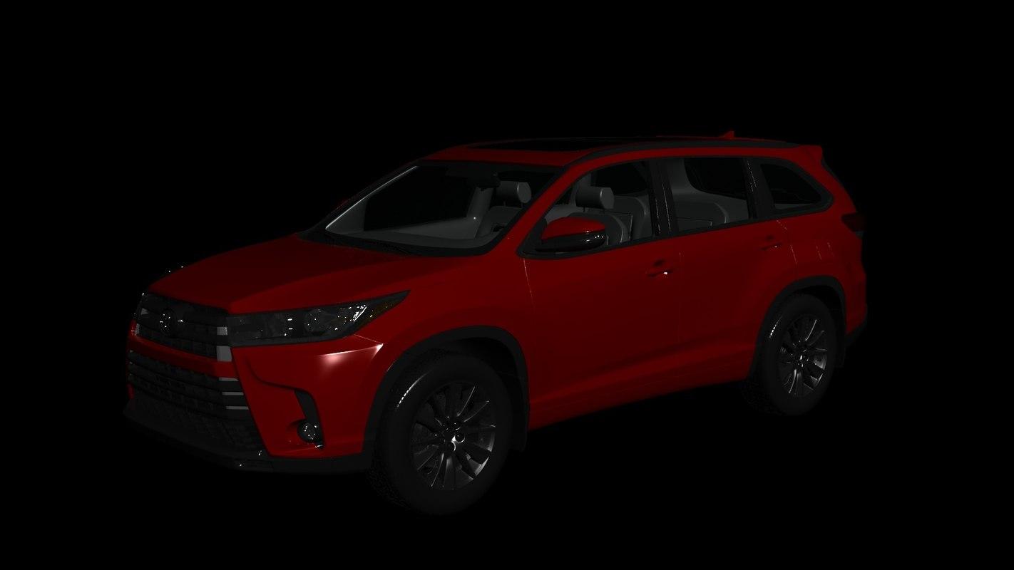toyota highlander xle 2016 3D model