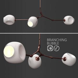 3D branching bubble 3 lamps model