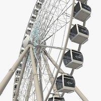 sky ferris wheel 3D
