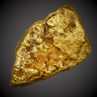 gold nugget pbr - 3D