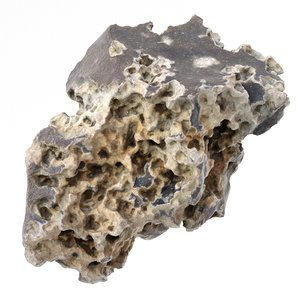 scanned porous rock pbr model