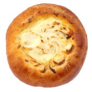 3D sweet bun cottage cheese