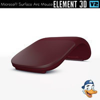 microsoft surface arc mouse 3D model