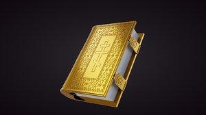 gospel book 3D model