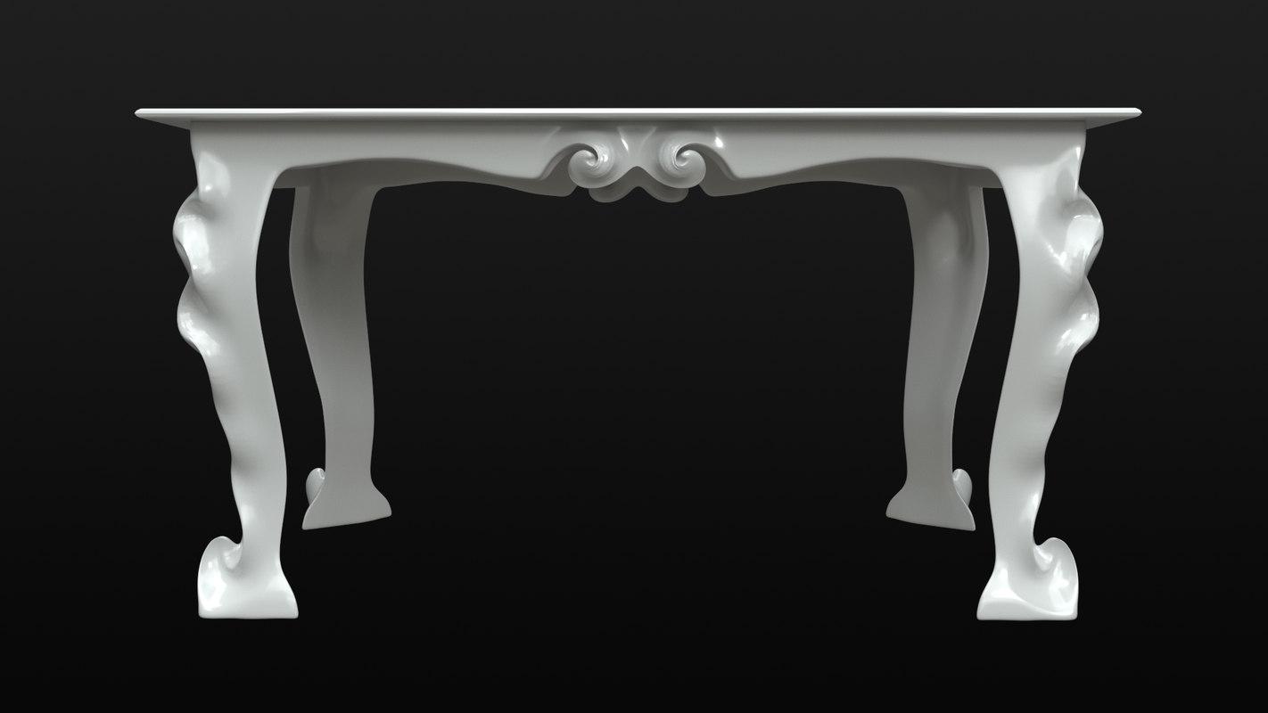 ornate table 3D model