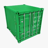 container 10ft green 3D model