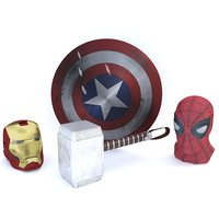 3D marvel avenger iron