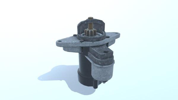 old starter 3D model