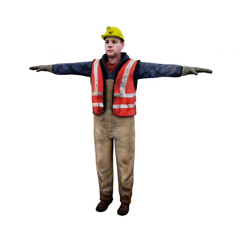 3D male worker