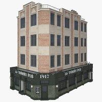 corner pub 3D model