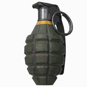 - mk2 grenade 3D model