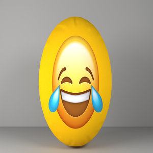 3D emoji pillow model