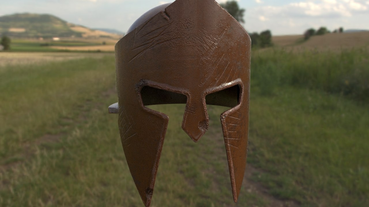 3D model spartan helmet
