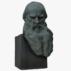 3D leo tolstoy bust