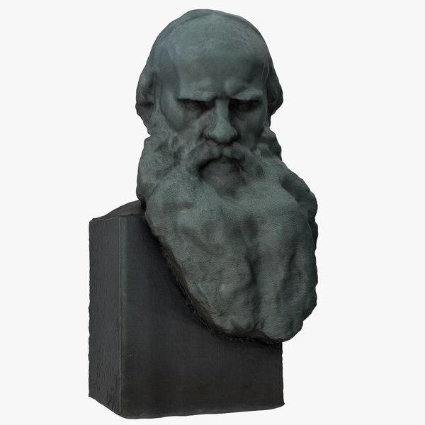 3D leo tolstoy bust