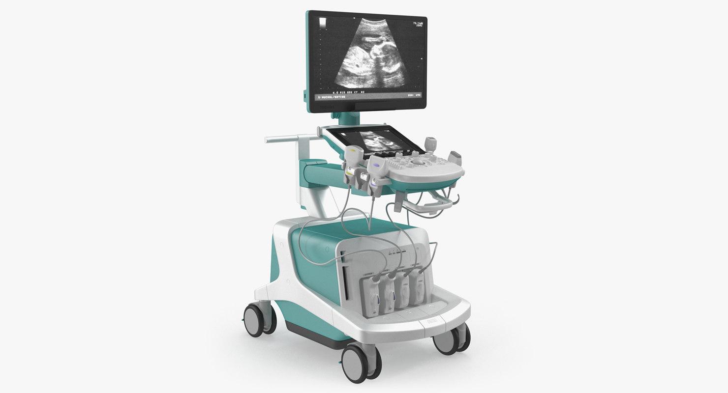 ultrasound scanner generic 3D model