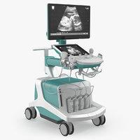 Ultrasound Scanner System Generic 3D Model