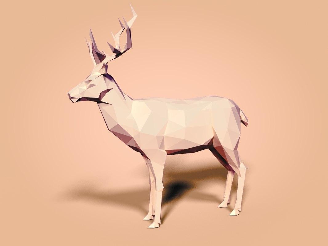 3D cartoon toon deer