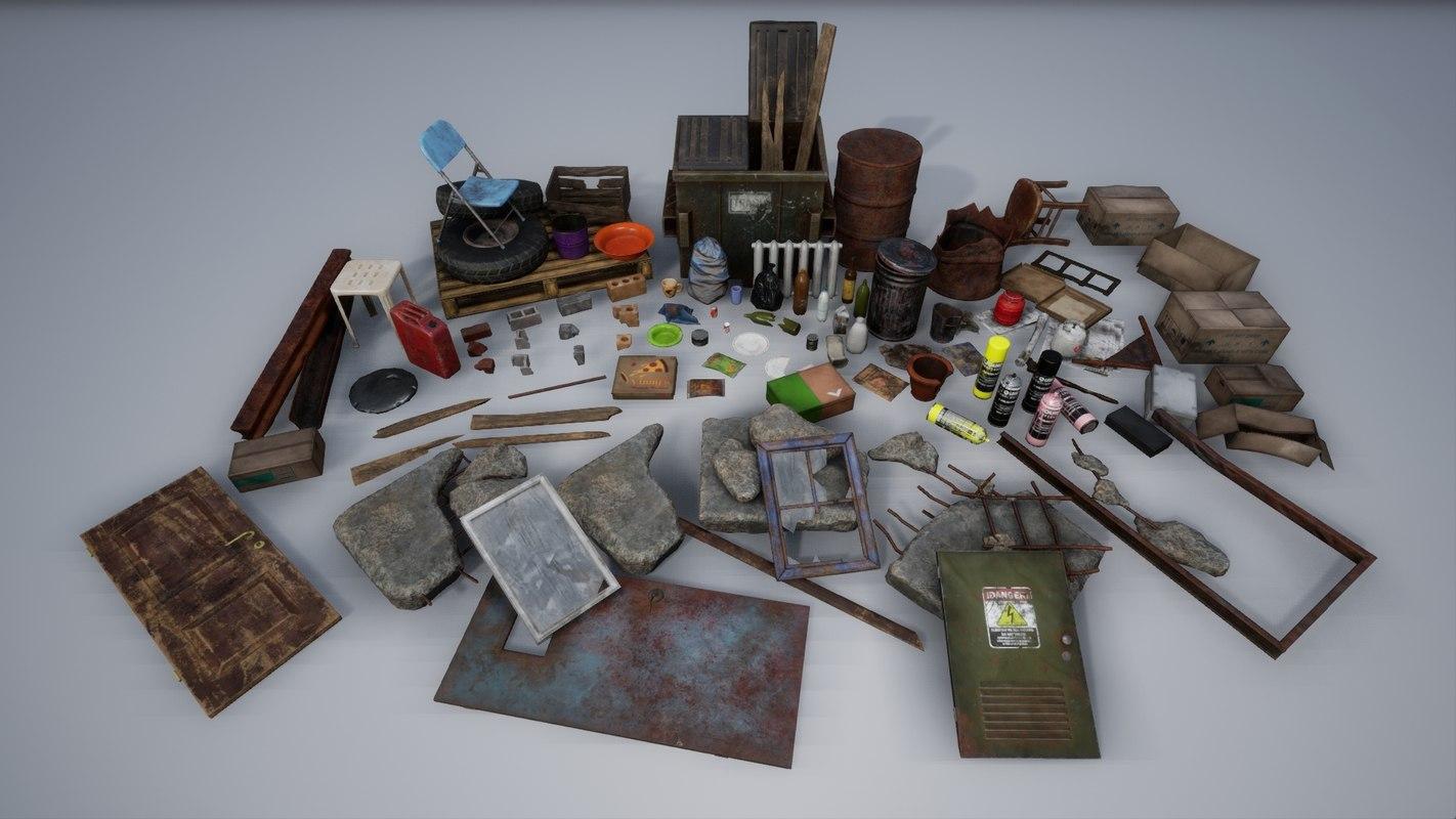 3D model pack trash