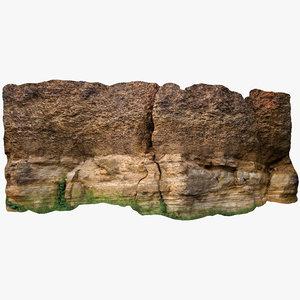 3D limestone wall 3