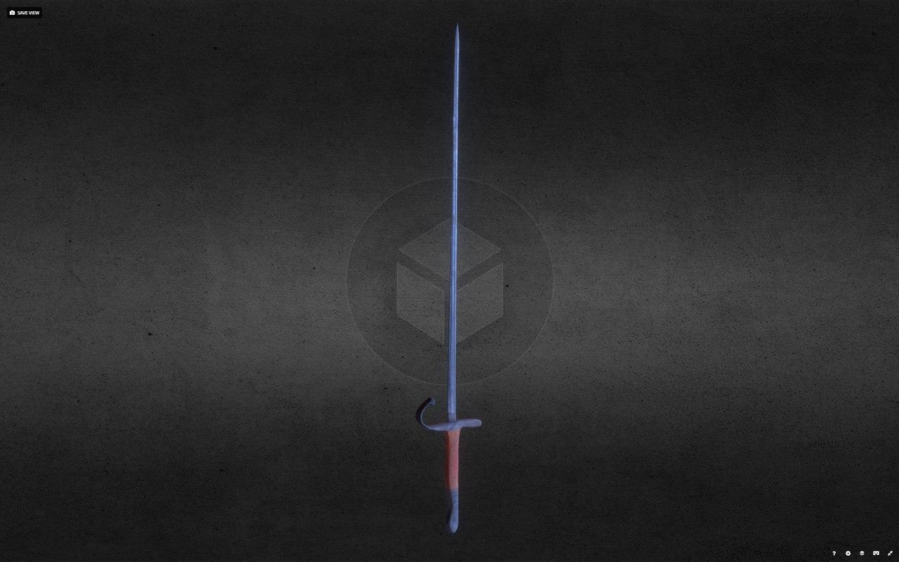 old officer sword 3D