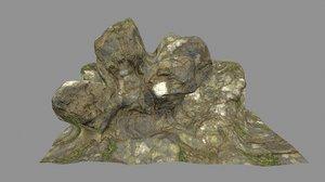 3D moss rock