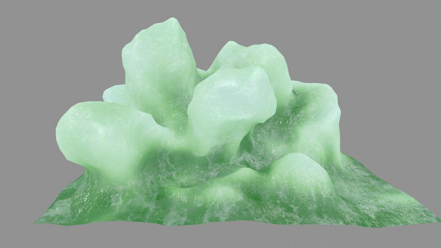 3D ice rock model