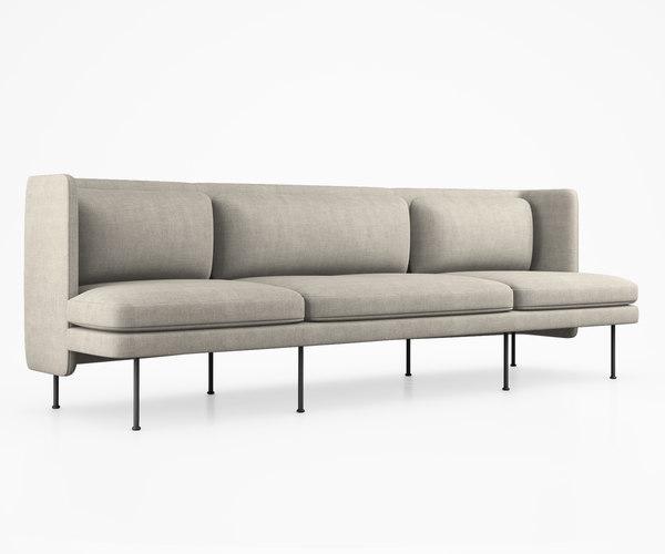 bloke sofa blu dot 3D model