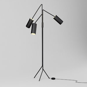 3D model floor lamp cto array
