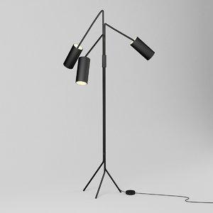 3D model floor lamp cto array