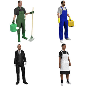 rigged household workers model
